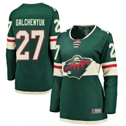 Alex Galchenyuk Minnesota Wild Women's Fanatics Branded Green Breakaway Home Jersey