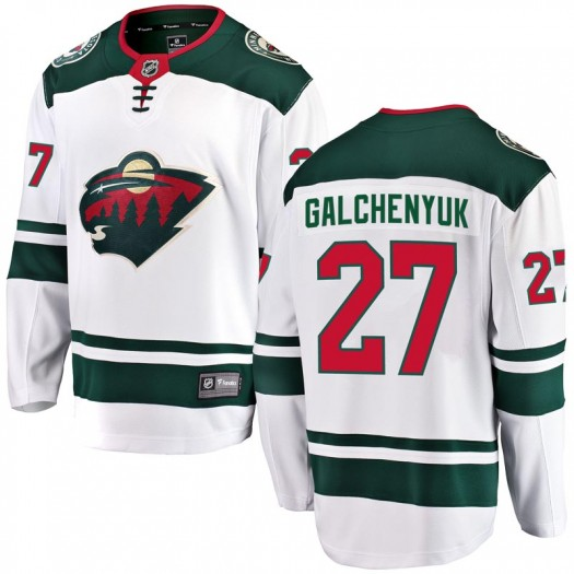 Alex Galchenyuk Minnesota Wild Youth Fanatics Branded White Breakaway Away Jersey