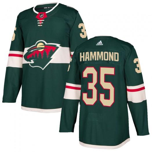 Andrew Hammond Minnesota Wild Men's Adidas Authentic Green Home Jersey