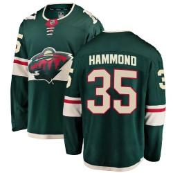 Andrew Hammond Minnesota Wild Men's Fanatics Branded Green Breakaway Home Jersey