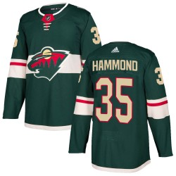 Andrew Hammond Minnesota Wild Youth Adidas Authentic Green Home Jersey