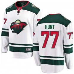 Brad Hunt Minnesota Wild Men's Fanatics Branded White Breakaway Away Jersey