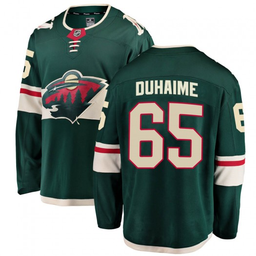 Brandon Duhaime Minnesota Wild Men's Fanatics Branded Green Breakaway Home Jersey