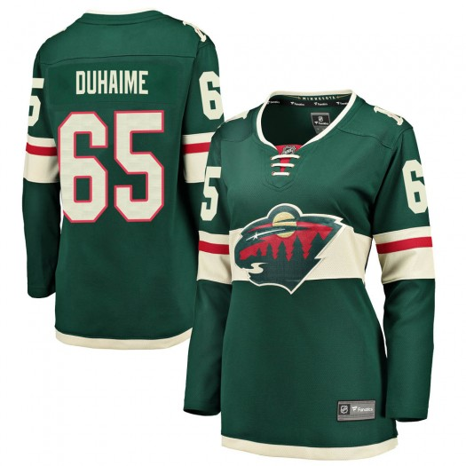 Brandon Duhaime Minnesota Wild Women's Fanatics Branded Green Breakaway Home Jersey