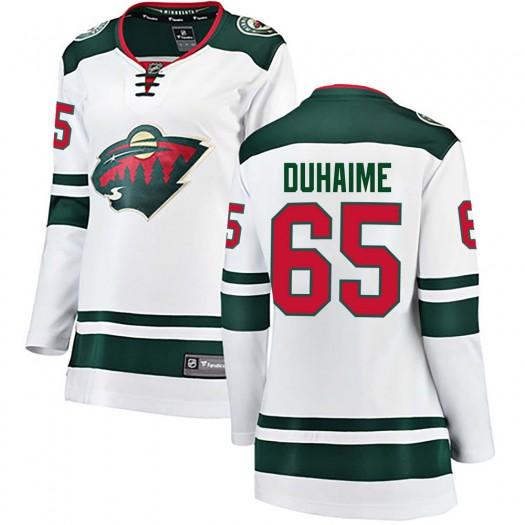 Brandon Duhaime Minnesota Wild Women's Fanatics Branded White Breakaway Away Jersey