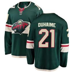 Brandon Duhaime Minnesota Wild Youth Fanatics Branded Green Breakaway Home Jersey