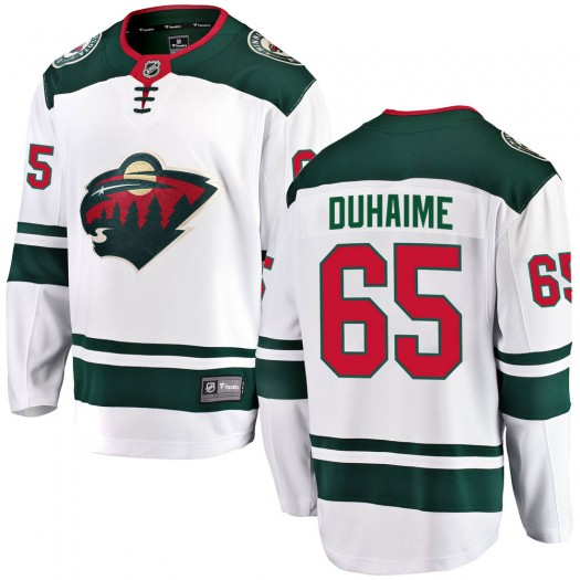 Brandon Duhaime Minnesota Wild Youth Fanatics Branded White Breakaway Away Jersey