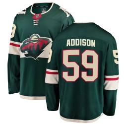 Calen Addison Minnesota Wild Youth Fanatics Branded Green Breakaway Home Jersey
