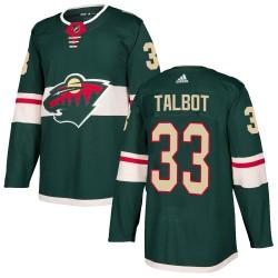 Cam Talbot Minnesota Wild Men's Adidas Authentic Green Home Jersey