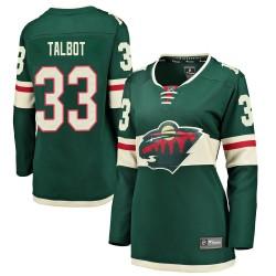 Cam Talbot Minnesota Wild Women's Fanatics Branded Green Breakaway Home Jersey