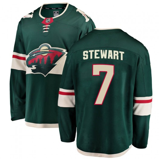 Chris Stewart Minnesota Wild Youth Fanatics Branded Green Breakaway Home Jersey