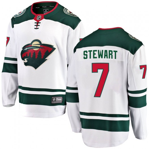 Chris Stewart Minnesota Wild Youth Fanatics Branded White Breakaway Away Jersey