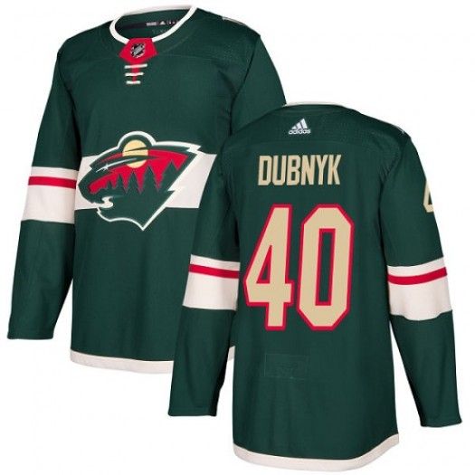 Devan Dubnyk Minnesota Wild Youth Adidas Authentic Green Home Jersey