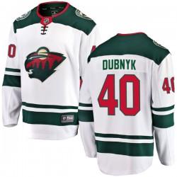 Devan Dubnyk Minnesota Wild Youth Fanatics Branded White Breakaway Away Jersey
