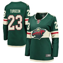 Dominic Turgeon Minnesota Wild Women's Fanatics Branded Green Breakaway Home Jersey