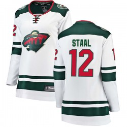 Eric Staal Minnesota Wild Women's Fanatics Branded White Breakaway Away Jersey