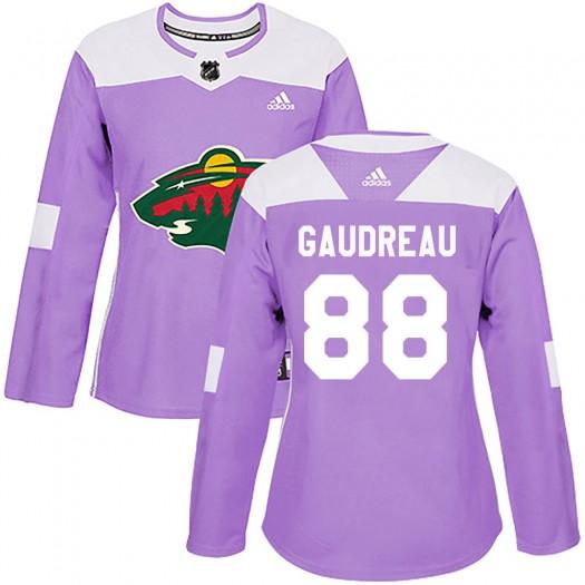 Frederick Gaudreau Minnesota Wild Women's Adidas Authentic Purple Fights Cancer Practice Jersey