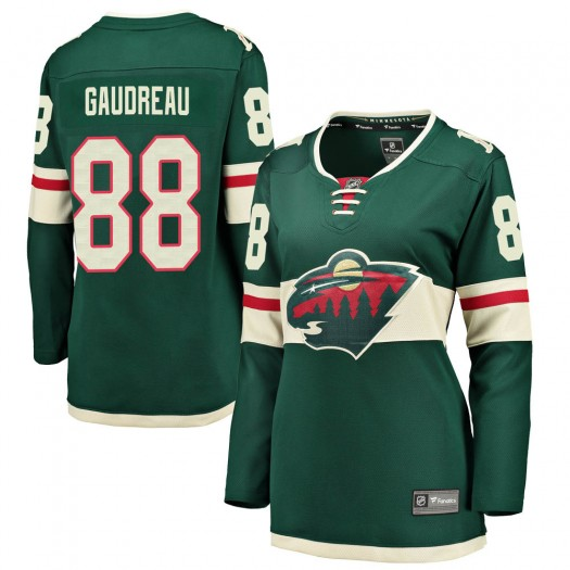 Frederick Gaudreau Minnesota Wild Women's Fanatics Branded Green Breakaway Home Jersey