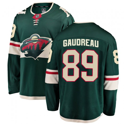 Frederick Gaudreau Minnesota Wild Youth Fanatics Branded Green Breakaway Home Jersey