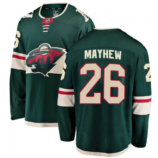 Gerald Mayhew Minnesota Wild Men's Fanatics Branded Green ized Breakaway Home Jersey