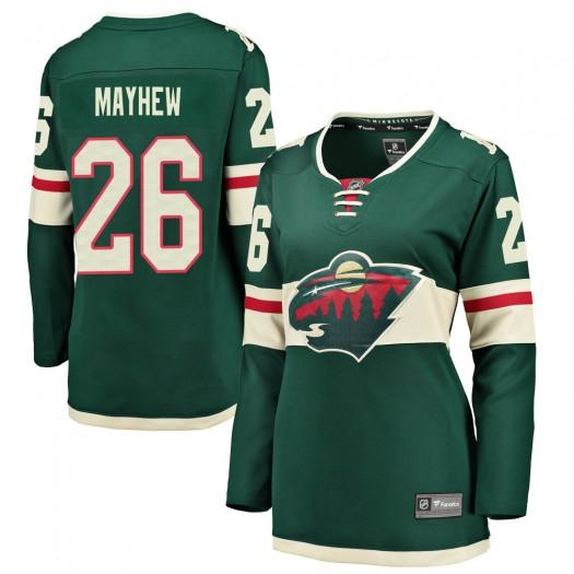 Gerald Mayhew Minnesota Wild Women's Fanatics Branded Green ized Breakaway Home Jersey