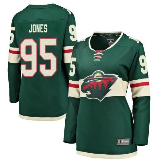 Hunter Jones Minnesota Wild Women's Fanatics Branded Green Breakaway Home Jersey
