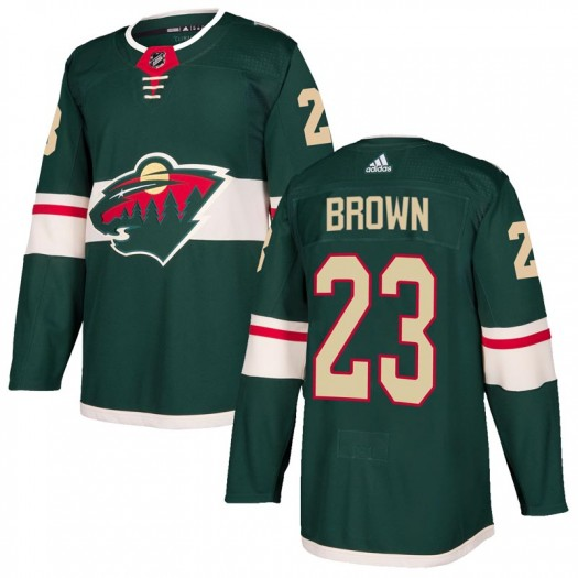 J.T. Brown Minnesota Wild Men's Adidas Authentic Green Home Jersey