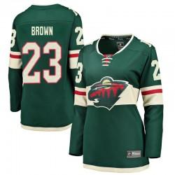J.T. Brown Minnesota Wild Women's Fanatics Branded Green Breakaway Home Jersey