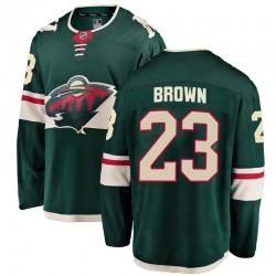 J.T. Brown Minnesota Wild Youth Fanatics Branded Green Breakaway Home Jersey