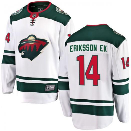 Joel Eriksson Ek Minnesota Wild Men's Fanatics Branded White Breakaway Away Jersey