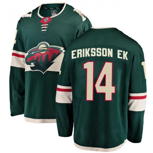 Joel Eriksson Ek Minnesota Wild Youth Fanatics Branded Green Breakaway Home Jersey
