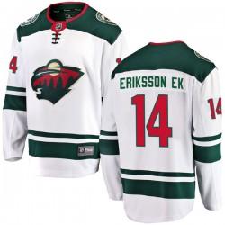 Joel Eriksson Ek Minnesota Wild Youth Fanatics Branded White Breakaway Away Jersey