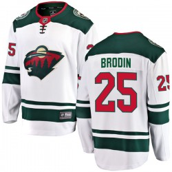 Jonas Brodin Minnesota Wild Men's Fanatics Branded White Breakaway Away Jersey