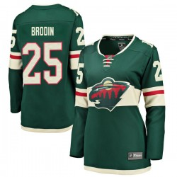 Jonas Brodin Minnesota Wild Women's Fanatics Branded Green Breakaway Home Jersey