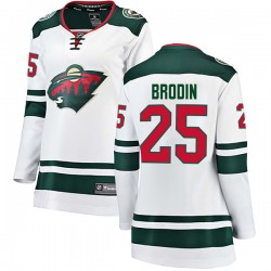 Jonas Brodin Minnesota Wild Women's Fanatics Branded White Breakaway Away Jersey