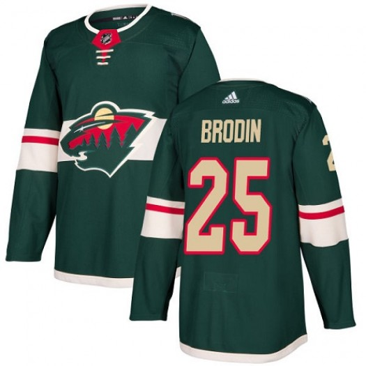 Jonas Brodin Minnesota Wild Youth Adidas Authentic Green Home Jersey
