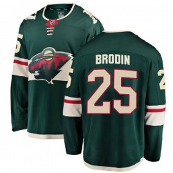 Jonas Brodin Minnesota Wild Youth Fanatics Branded Green Breakaway Home Jersey