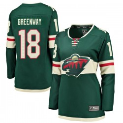 Jordan Greenway Minnesota Wild Women's Fanatics Branded Green Breakaway Home Jersey