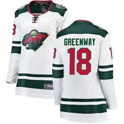Jordan Greenway Minnesota Wild Women's Fanatics Branded White Breakaway Away Jersey