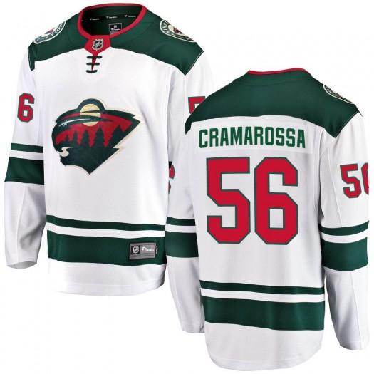 Joseph Cramarossa Minnesota Wild Youth Fanatics Branded White Breakaway Away Jersey