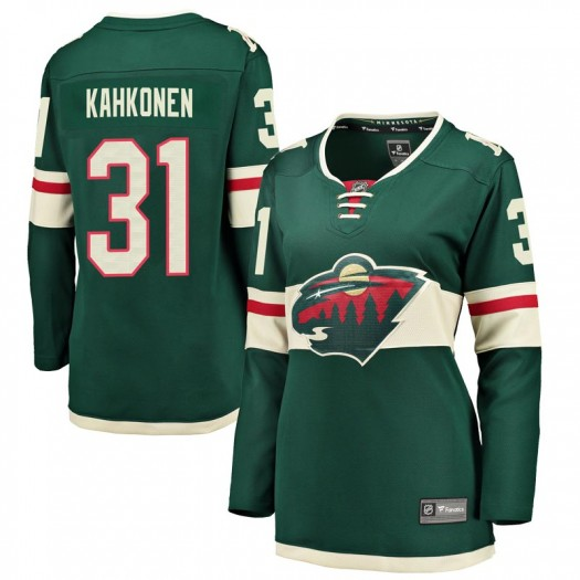 Kaapo Kahkonen Minnesota Wild Women's Fanatics Branded Green Breakaway Home Jersey