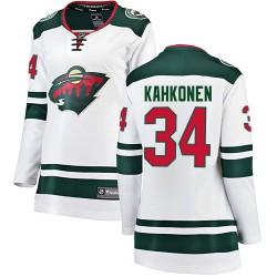 Kaapo Kahkonen Minnesota Wild Women's Fanatics Branded White Breakaway Away Jersey