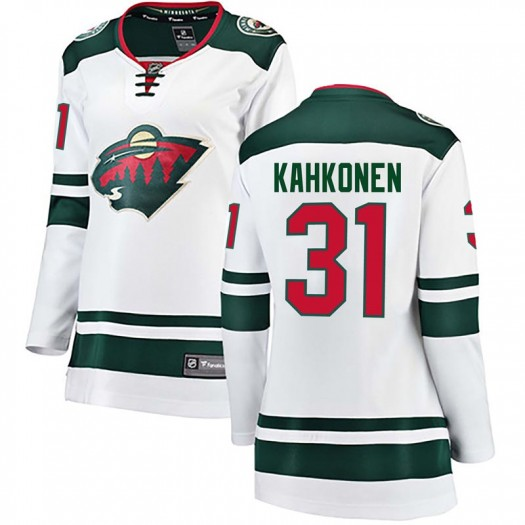 Kaapo Kahkonen Minnesota Wild Women's Fanatics Branded White Breakaway Away Jersey
