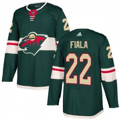 Kevin Fiala Minnesota Wild Youth Adidas Authentic Green Home Jersey