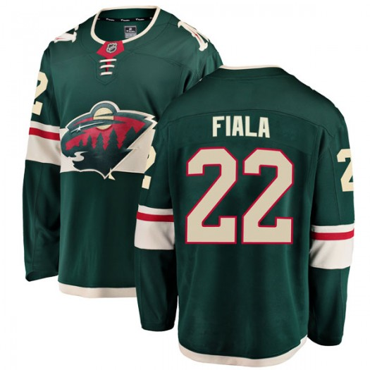 Kevin Fiala Minnesota Wild Youth Fanatics Branded Green Breakaway Home Jersey
