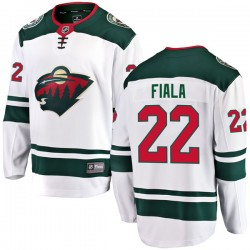 Kevin Fiala Minnesota Wild Youth Fanatics Branded White Breakaway Away Jersey