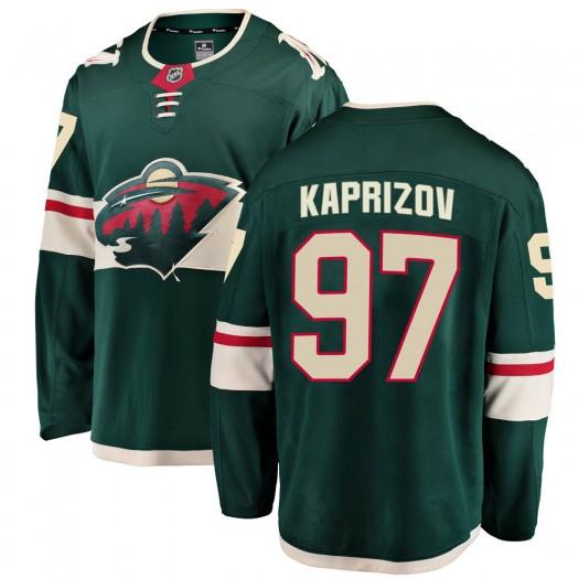 Kirill Kaprizov Minnesota Wild Men's Fanatics Branded Green Breakaway Home Jersey