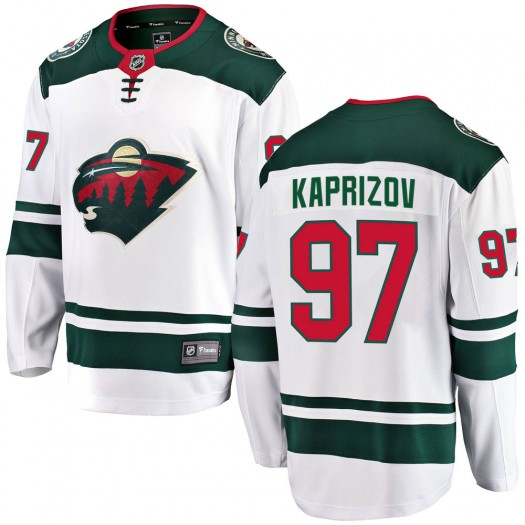 Kirill Kaprizov Minnesota Wild Men's Fanatics Branded White Breakaway Away Jersey