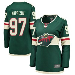 Kirill Kaprizov Minnesota Wild Women's Fanatics Branded Green Breakaway Home Jersey