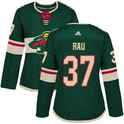 Kyle Rau Minnesota Wild Women's Adidas Authentic Green Home Jersey